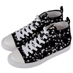 Constellations Women s Mid Top Canvas Sneakers by snowwhitegirl