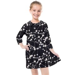 Constellations Kids  Quarter Sleeve Shirt Dress by snowwhitegirl