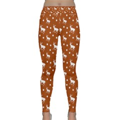 Deer Dots Orange Classic Yoga Leggings