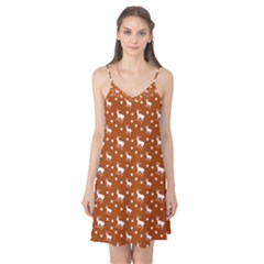 Deer Dots Orange Camis Nightgown