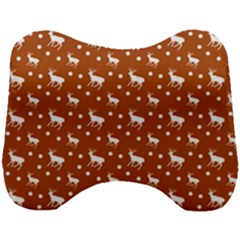 Deer Dots Orange Head Support Cushion