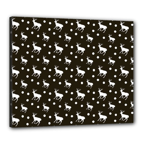Deer Dots Brown Canvas 24  X 20  (stretched)