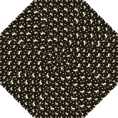 Deer Dots Brown Hook Handle Umbrellas (large)