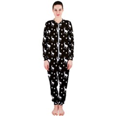 Deer Dots Brown Onepiece Jumpsuit (ladies)