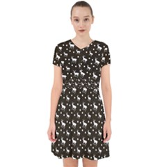 Deer Dots Brown Adorable In Chiffon Dress
