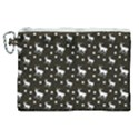 Deer Dots Brown Canvas Cosmetic Bag (XL) View1