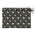 Deer Dots Brown Canvas Cosmetic Bag (XL) View2