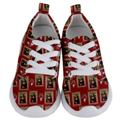 Mona Lisa Frame Pattern Red Kids  Lightweight Sports Shoes