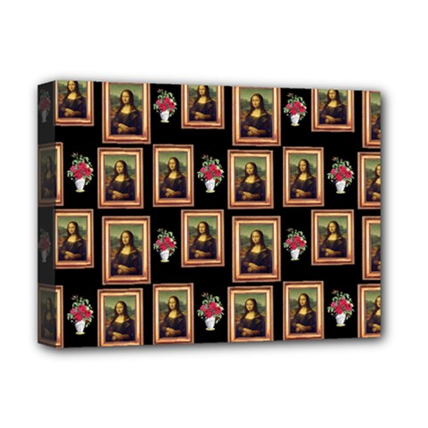 Mona Lisa Frame Pattern Deluxe Canvas 16  X 12  (stretched)