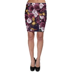 Mona Lisa Floral Black Bodycon Skirt