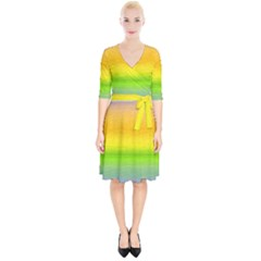 Ombre Wrap Up Cocktail Dress