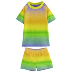 Ombre Kids  Swim Tee And Shorts Set by Valentinaart
