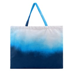 Ombre Zipper Large Tote Bag by Valentinaart