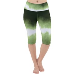 Ombre Lightweight Velour Cropped Yoga Leggings