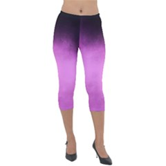 Ombre Lightweight Velour Capri Leggings