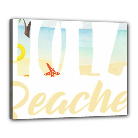 Hola Beaches 3391 Trimmed Canvas 20  X 16  (stretched)