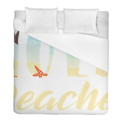 Hola Beaches 3391 Trimmed Duvet Cover (full/ Double Size)