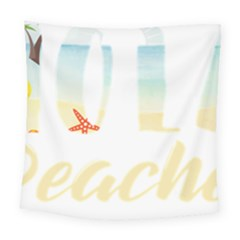 Hola Beaches 3391 Trimmed Square Tapestry (large)