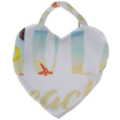 Hola Beaches 3391 Trimmed Giant Heart Shaped Tote