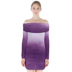 Ombre Long Sleeve Off Shoulder Dress by Valentinaart