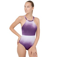 Ombre High Neck One Piece Swimsuit