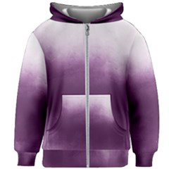 Ombre Kids Zipper Hoodie Without Drawstring