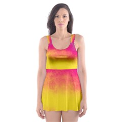 Ombre Skater Dress Swimsuit