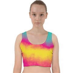 Ombre Velvet Racer Back Crop Top
