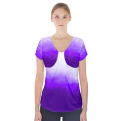 Ombre Short Sleeve Front Detail Top