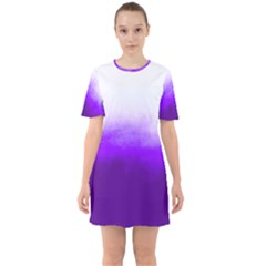 Ombre Sixties Short Sleeve Mini Dress