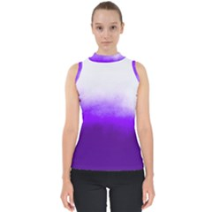 Ombre Mock Neck Shell Top