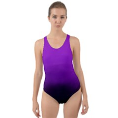 Ombre Cut Out Back One Piece Swimsuit