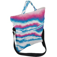 Ombre Fold Over Handle Tote Bag