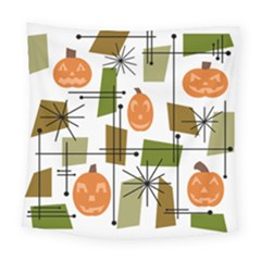 Halloween Mid Century Modern Square Tapestry (large) by KayCordingly