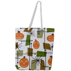 Halloween Mid Century Modern Full Print Rope Handle Tote (large) by KayCordingly