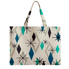 Atomic Era Diamonds (turquoise) Zipper Mini Tote Bag