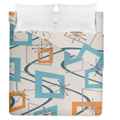 Minimalist Wavy Rectangles Duvet Cover Double Side (queen Size)