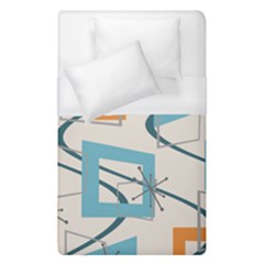 Minimalist Wavy Rectangles Duvet Cover (single Size)
