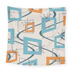 Minimalist Wavy Rectangles Square Tapestry (large) by KayCordingly