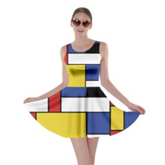 Mondrian Geometric Art Skater Dress