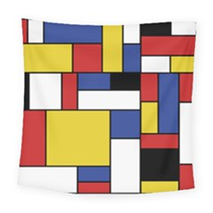Mondrian Geometric Art Square Tapestry (large) by KayCordingly