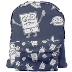 Doodle Bob Pattern Giant Full Print Backpack by Valentinaart
