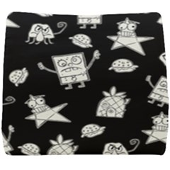 Doodle Bob Pattern Seat Cushion by Valentinaart