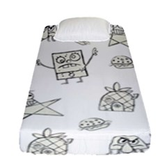 Doodle Bob Pattern Fitted Sheet (single Size)