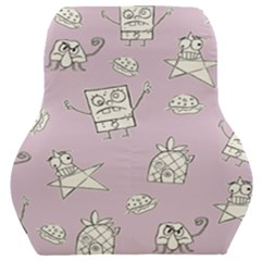 Doodle Bob Pattern Car Seat Back Cushion  by Valentinaart
