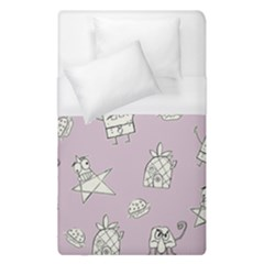 Doodle Bob Pattern Duvet Cover (single Size)
