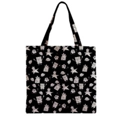 Doodle Bob Pattern Zipper Grocery Tote Bag by Valentinaart