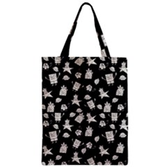 Doodle Bob Pattern Zipper Classic Tote Bag by Valentinaart