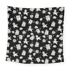 Doodle Bob Pattern Square Tapestry (large)