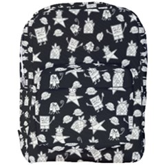 Doodle Bob Pattern Full Print Backpack by Valentinaart